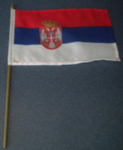 Serbia Country Hand Flag - Medium (stitched).